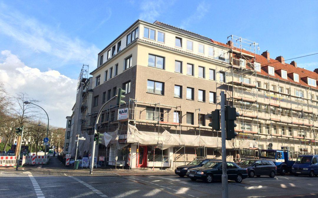 Fit für die Zukunft: Modernisierung der Gebäude Ecke Rheinstraße/Friedrich-Ebert-Straße und Dürerstraße